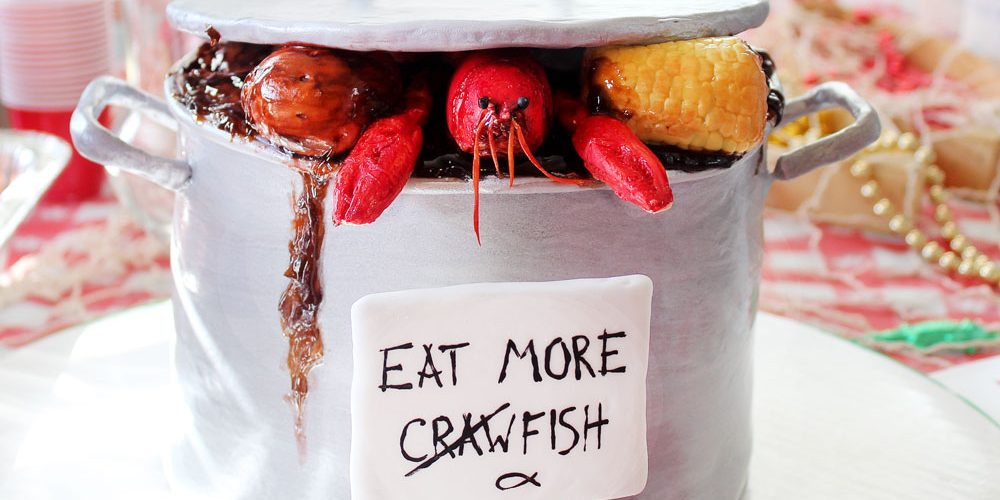 Crawfish Boil Cake | Chocolate Crawfish