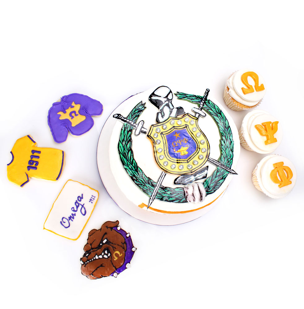 Stupendous Omega Psi Phi Cake Cookies Cupcakes Nina Bakes Cakes Dallas Funny Birthday Cards Online Elaedamsfinfo
