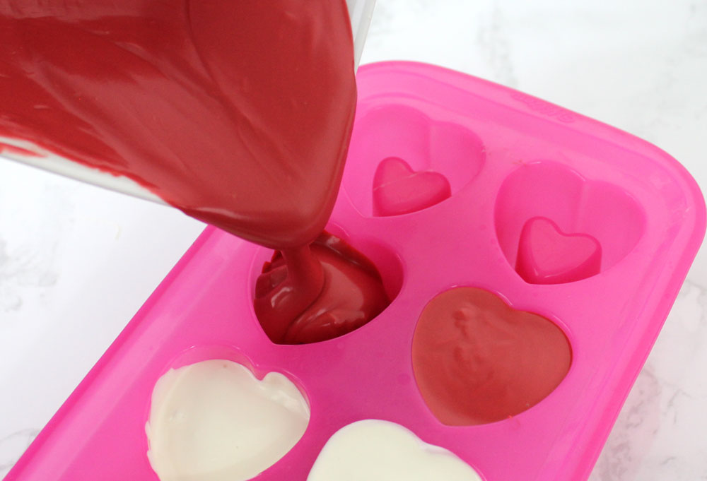 Chocolate Valentine Heart Candy Shot Glasses