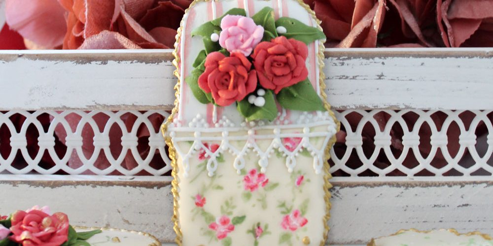 Hand-Painted Cookies with Royal Icing Roses