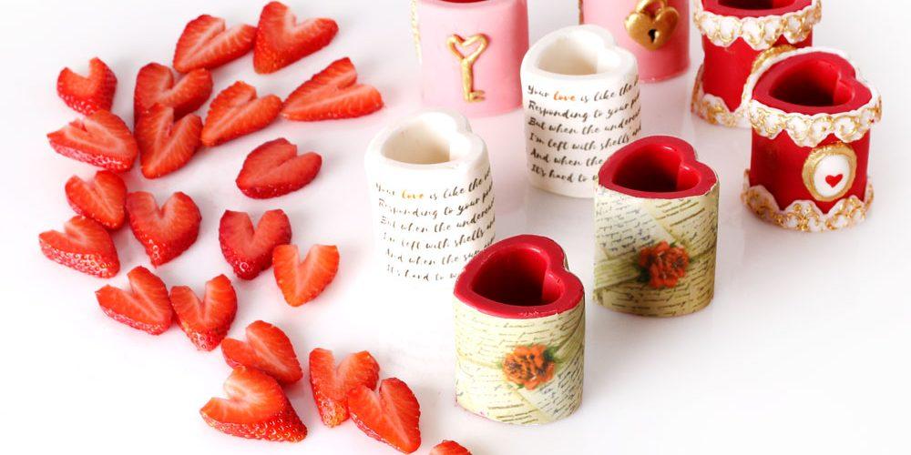 Chocolate Edible Heart Shot Glasses – Valentine