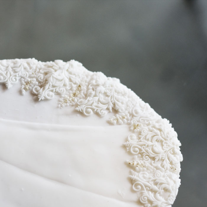 luxury-elegant-wedding-bridal-cookies-bride-full-dress-detail-train-nina-bakes-cakes